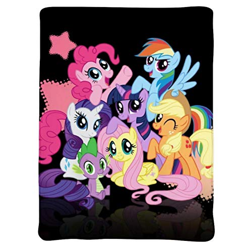Blankets,Applejack Dragon Fluttershy Pie Rainbow Dash Rarity Twilight Sparkle,Soft Cozy Warm Cute Flannel Fleece Throw Blanket for Adult and Kids,Living Room Bedroom Study Couch Bed,80x70 inch