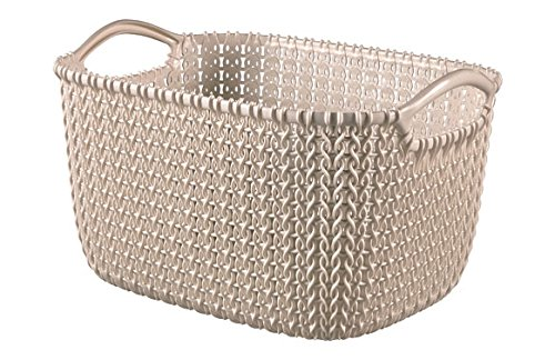 Curver Knit Cesta Rectangular, Arena, 27.6x20.2x15.2 cm (232076)
