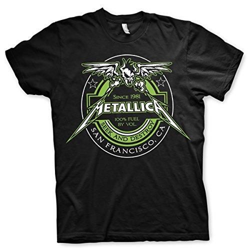 Metallica Fuel Since 1981 Seek and Destroy Rock Oficial Camiseta para Hombr...