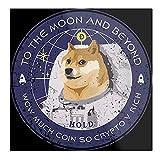 Póster decorativo de pared con diseño de Dogecoin to The Moon