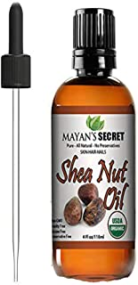 Shea Nut Oil USDA Certified Organic Natual Undiluted Cold Pressed for Skin Hair Lips and Nails