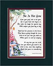 Genie's Poems A Memorial Gift Present #95, (She is Not Gone) The Loss of A Mother, Grandmother, Sister. Bereavement Poem.