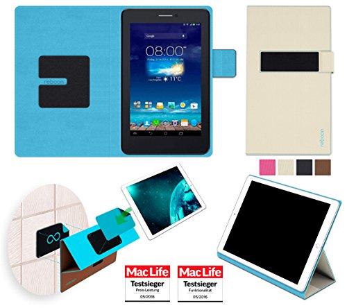 Hülle für Asus FonePad 7 Dual FE175CG Tasche Cover Hülle Bumper | in Beige | Testsieger