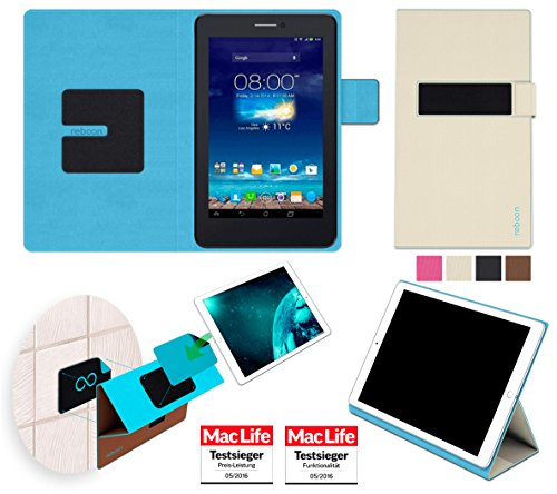 reboon Hülle für Asus FonePad 7 Dual FE175CG Tasche Cover Case Bumper | in Beige | Testsieger