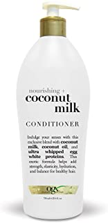 OGX Salon Size Nourishing Coconut Milk Conditioner with Pump, 25.4 Ounce