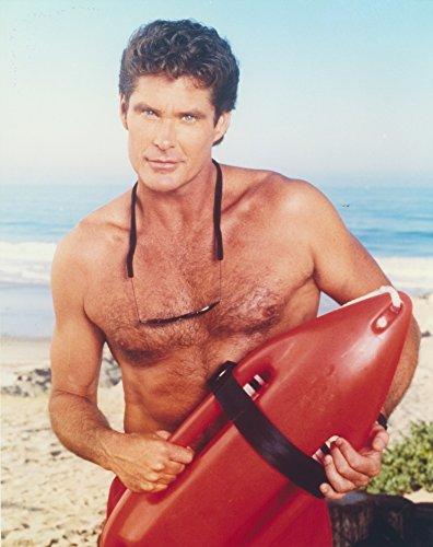 Posterazzi David Hasselhoff Posed in a Lifeguard Costume Photo Print (8 x 10)