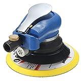 Kecheer Druckluft Schleifer,6 Zoll pneumatische Poliermaschine, pneumatische Schleifpapiermaschine, Schleifpolieren mit Schlüssel,geeignet für Nass- und Trockenschliff