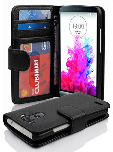 Cadorabo Funda Libro para LG G3 en Negro ÓXIDO - Cubierta Proteccíon con Cierre Magnético e 3 Tarjeteros - Etui Case Cover Carcasa