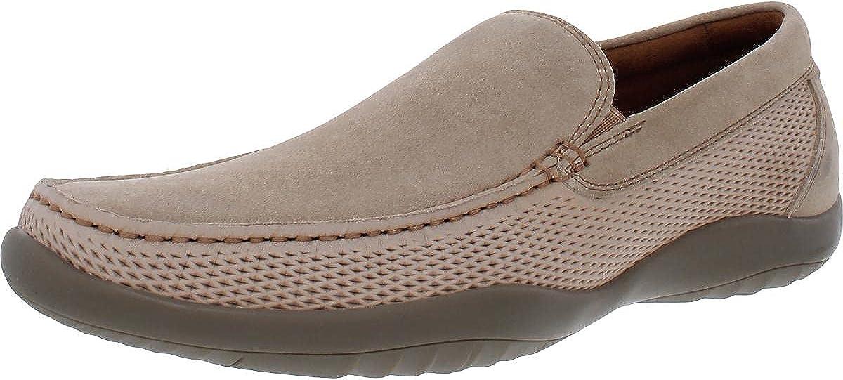 Kenneth Cole New York Mens Motion Suede Slip-On Loafers Beige 8 Medium (D)
