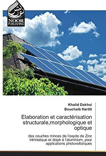 Elaboration et caractérisation structurale,morphologique et optique: des couches minces de l'oxyde de Zinc intrinsèque et dopé à l'aluminium, pour applications photovoltaïques
