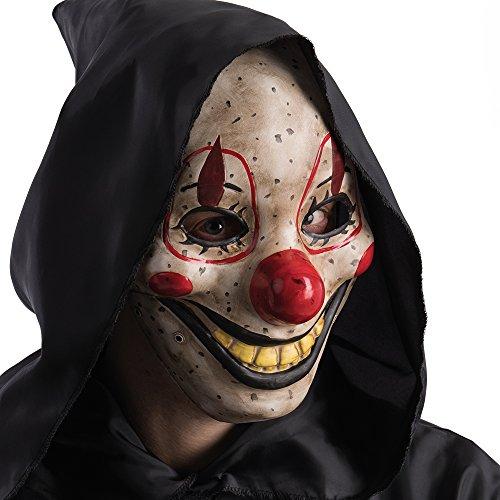Carnival Toys 783 Maske Horror Clown, beige, one Size