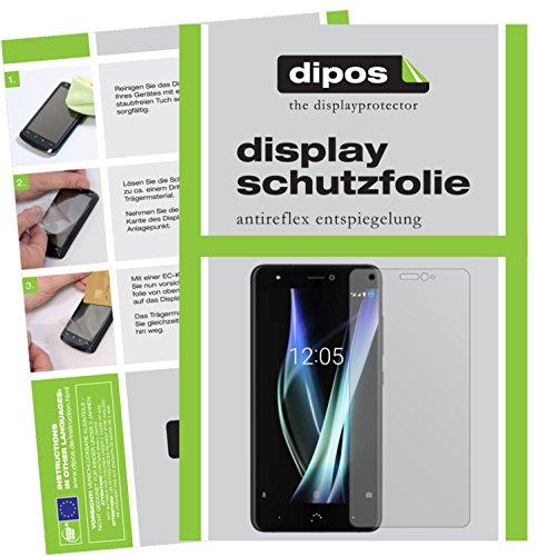 dipos I 6X Schutzfolie matt kompatibel mit BQ Aquaris X Folie Bildschirmschutzfolie