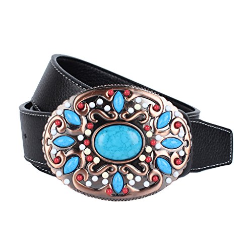 Baoblaze Cinturones para Correas para Mujer Hombres Complimentos Anchos Duradero - Negro, 110-125cm (Ropa)
