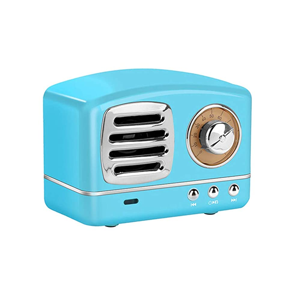 ULTECHNOVO Retro Radio Subwoofer Portable Bluetooth Speaker Small Speaker for Computer Car Mp3 Cellphone