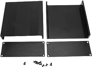 Caja de aluminio, caja de placa de circuito impreso de aluminio negro Tipo de división Caso de caja de proyecto electrónico DIY