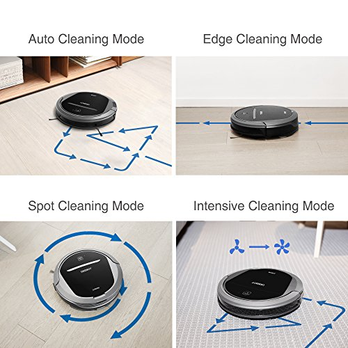 ECOVACS DEEBOT M81Pro Robotic Vacuum Cleaner with Strong Suction, for Pet Hair, Low-pile Carpet, Bare Floors, Wifi Connected, Compatible with Alexa