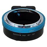 Adaptador Profesional de Lentes de Fotodiox, de LentesCanon FD y FL de 35mm SLR a Lente Sony Alpha E-Mount cámara mirrorless con Dial de Control de Apertura integrada
