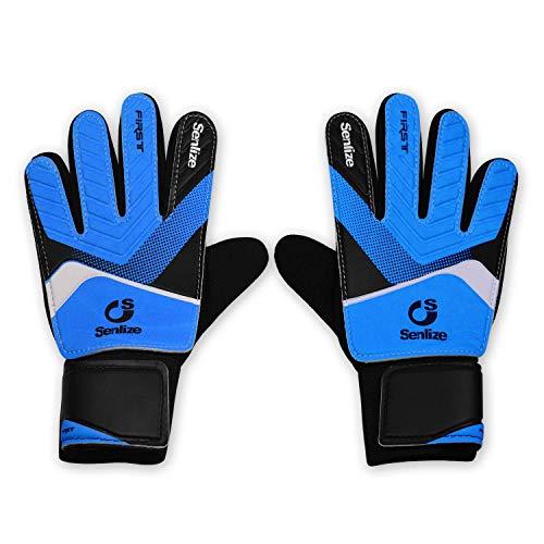 Obbsen Kids Youths Goalkeeper Goalie Gloves, Non-Slip...