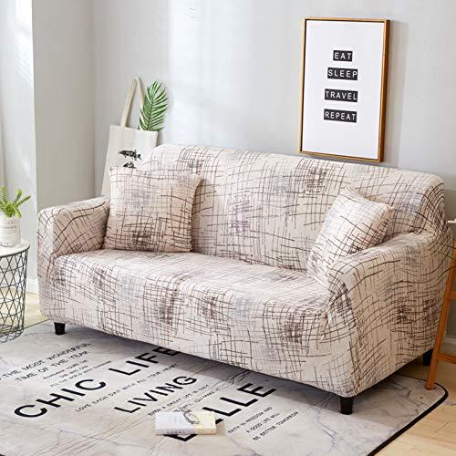 SSDLRSF Housse de Canapé Housse de canapé Beige Extensible pour Housses de Salon élastiques pour fauteuils Housses de canapé Housses de Chaise de canapé