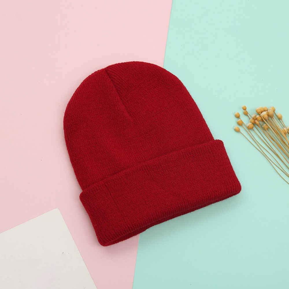 TREEMEN Knitted Beanie for Children Aged 8-15,Warm Fine Knit Hat, Unisex, Claret red