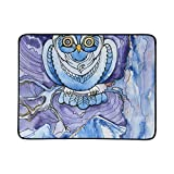 ZXWXNLA Watercolor Night Birds Owl On Tree Pattern Portable and Foldable Blanket Mat 60x78 Inch Handy Mat for Camping Picnic Beach Indoor Outdoor Travel