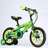 WZLJW Bicles de Lquide Infantil, 4-8 años niños y niñas de Las bicis de 16 Pulgadas, for Altura 105-135cm Lin ggsm (Color : Green)