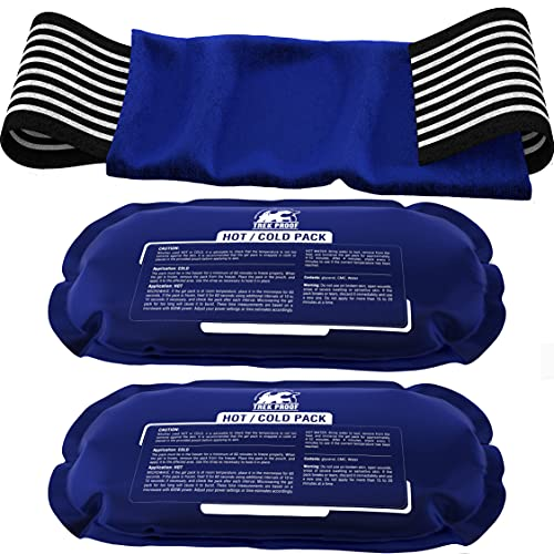 Ice Pack (3-Piece Set) – Reusable Hot and Cold Therapy Gel Wrap Support Injury Recovery, Alleviate Joint and Muscle Pain – Rotator Cuff, Knees, Back & More (3 Piece Set - Classic)