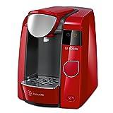 Bosch TAS4503 Tassimo Multi-Getränke-kaffeeautomat JOY (mit Brita Wasserfilter, Getränkevielfalt, 1-Knopf-Bedienung), Rot
