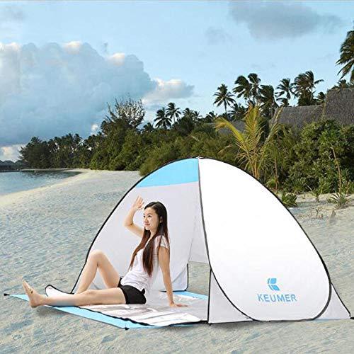 ROMOR Strandmuschel Automatisches Campingzelt-Schiff von RU Strandzelt 2 Personen-Zelt Sofortiges Aufklappen Anti-UV-Markisenzelte Outdoor Sunshelter @ White