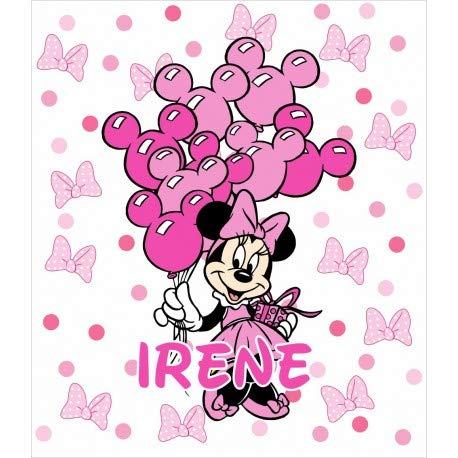 Desconocido Estor Iroa Digital Minnie Irene ¡ESTORES ENROLLABLES TRANSLUCIDOS Personalizado con Nombre! (180X170)