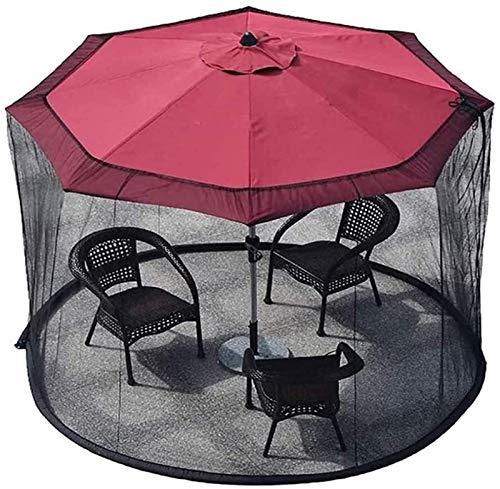 YYCHJU Cubierta De Red Anti Mosquitos Ajustable Pantalla de Cubierta Neta Paraguas, Pantalla de Mesa de Mesa de jardín Exterior Parasol Cubierta de mosquitera, con Cremallera (Color : Default)