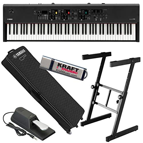 Sale!! Yamaha CP88 Stage Piano with Yamaha YSC-CP88 Gig Bag with Wheels, Z-Frame Stand and Flash Dri...