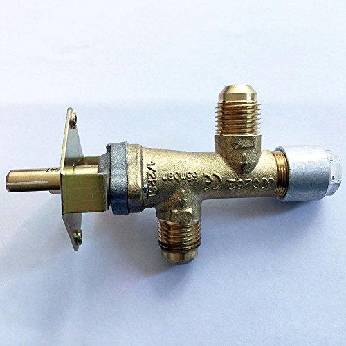 Earth Star 3/20,3cm NPT (5/8UNF) Einlass und Auslass Gewinde Gas Ventil Ersatz für Fire Pit/Gas Grill