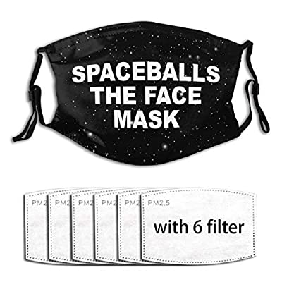 Spaceballs The Face Masks Reusable Activated Carbon Filter Face Shield With 6 Filter