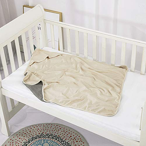 EMF Protective Belly Pregnancy Baby Blanket, Organic, Anti-Radiation, Natural Beige, 36'x30'
