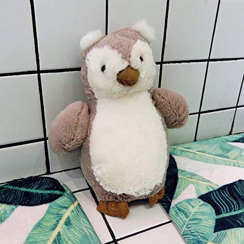 KXCAQ 18-35 cm pingüino de Dibujos Animados bebé Elefante Cerdo Pollito búho Animal de Peluche muñeco de Peluche muñeca niño niña niño Regalo de cumpleaños de Vacaciones 18 CM marrón