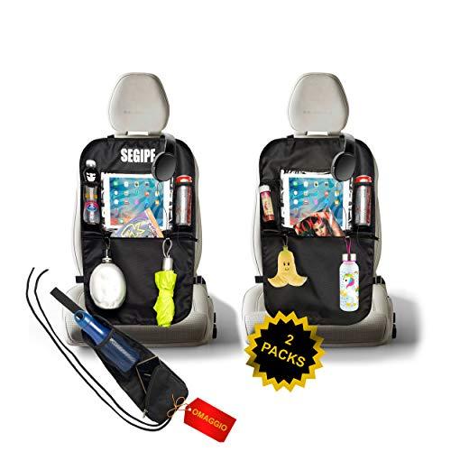 Protezione Sedile Auto Bambini Coprisedile Universale Auto 2 Pack novità 2020 Proteggi Sedili Auto Bambini Porta Tablet Auto Accessori Auto Coprisedili Porta Oggetti per Auto Portaoggetti Auto