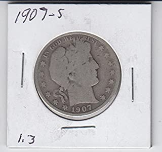 1907 S Barber Half Dollar Silver Coin Half Dollar Good