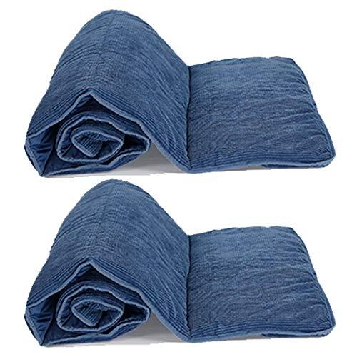 HEJINXL Sun Lounger Cushions Reclinable Engrosado Cojín Pana Gris Mate Cojín Ocio Alargado Ensanchado Cojín Algodón Plegable (Sin Silla) 2 Piezas (Color : B, Size : 185x55cm)