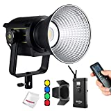 Godox VL150 LED Video Light with BD-04 Barndoor Kit, 150W 5600K Daylight-Balanced Bowens Mount,CRI 96 TLCI 95, 61000Lux@1m, Bluetooth and Wireless Radio Remote, with V-Mount Plate Controller Box