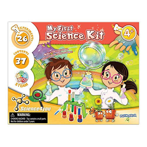 PlayMonster Science4you - My First Science Kit -- 26 Experiments to Introduce Children to Science -- Fun, Education Activity for Kids Ages 4+