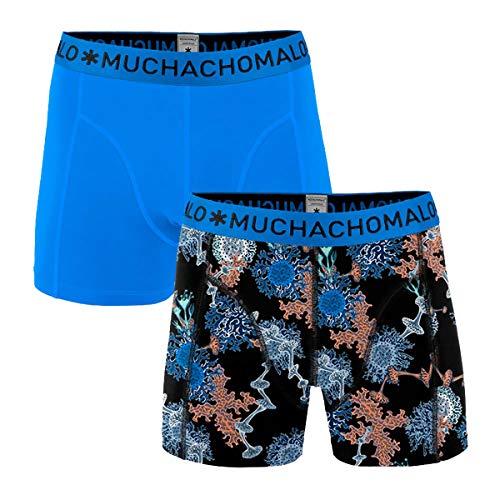 Muchachomalo boxershort voor heren, verpakking van 2 stuks, koraal, blauw