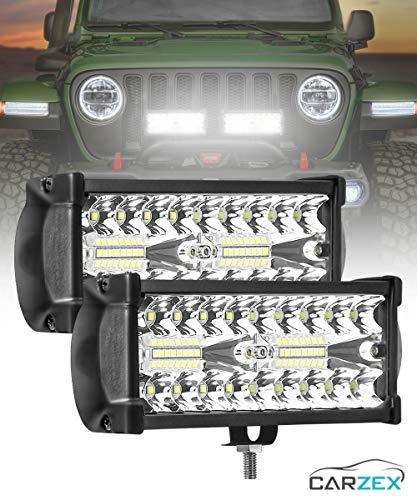 Carzex 7 Inch High Power Bike LED Bar Light Spot + Flood Beam CREE LED Fog Light For Bike/Car/Scooty (60W/6000K)