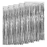 5 paquetes de cortinas de flecos de aluminio, 3 pies x 7 pies, cortinas de...