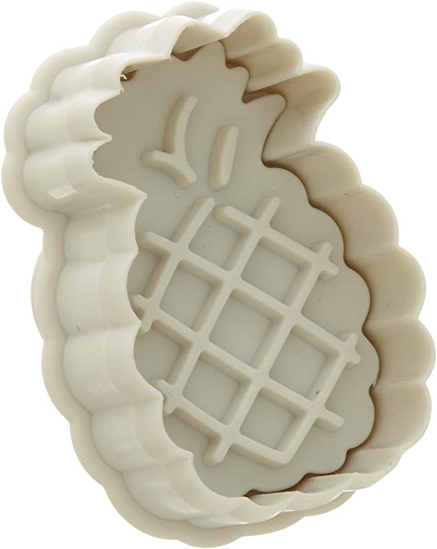 Ateco 1982 Pineapple Plunger Cutters For Cutting Decorations Direct Embossing Spring Loaded Handle Food Safe Plastic