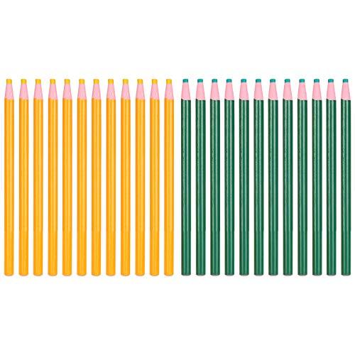 Oumefar 24 Piezas Sastre bolígrafos de Tiza Ropa lápiz de Marcado Dibujo de líneas de Vidrio de cerámica lápiz de Marcado de Muebles