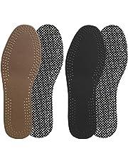 MILISTEN 2 Paar Lederen Inlegzolen Schokabsorptie Ademende Inserts Absorberen Zweet Schoenen Pad Kussen Voor Mannen Sportschoenen Sneakers 36