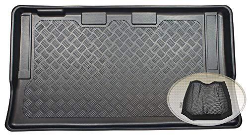 ZentimeX Z3327265 Geriffelte Kofferraumwanne fahrzeugspezifisch + Klett-Organizer (Laderaumwanne, Kofferraummatte)