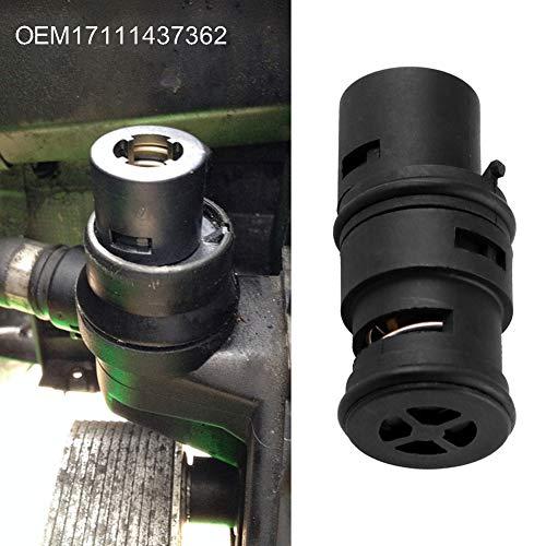 YSHtanj Olie Koeler Thermostaat Auto Interieur Onderdelen Thermostaat Auto Voertuig Olie Koeler Radiator Tank Thermostaat voor BMW E46 E53 E83 E85 E86 X3 - Zwart