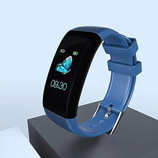 CXJC TPU IP68 Impermeable Negro/Azul/Blanco/púrpura Pulsera Inteligente Monitoreo de la frecuencia cardíaca Relojes de presión Arterial for Hombres y Mujeres Relojes Deportivos Impermeables Mult